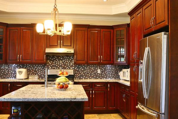 Cherry Raise Kitchen Cabinet | Calgary Cabinets Depot
